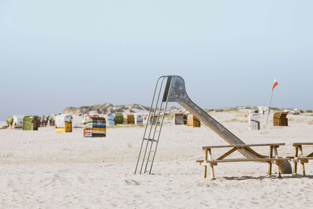 gray metal sand slide during daytime
