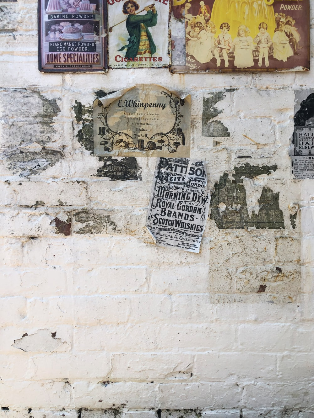 assorted poster on wall