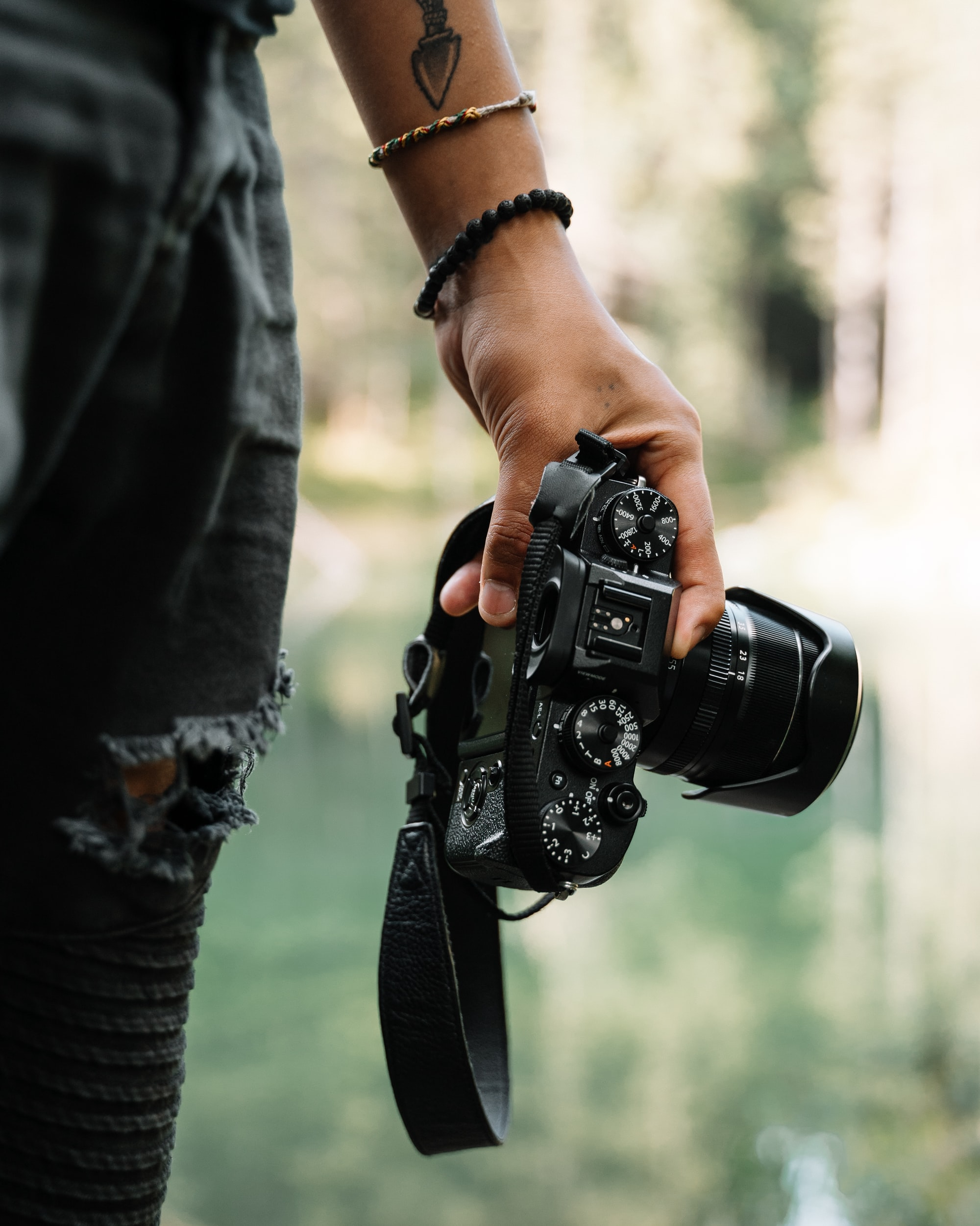 Holding a film Camera