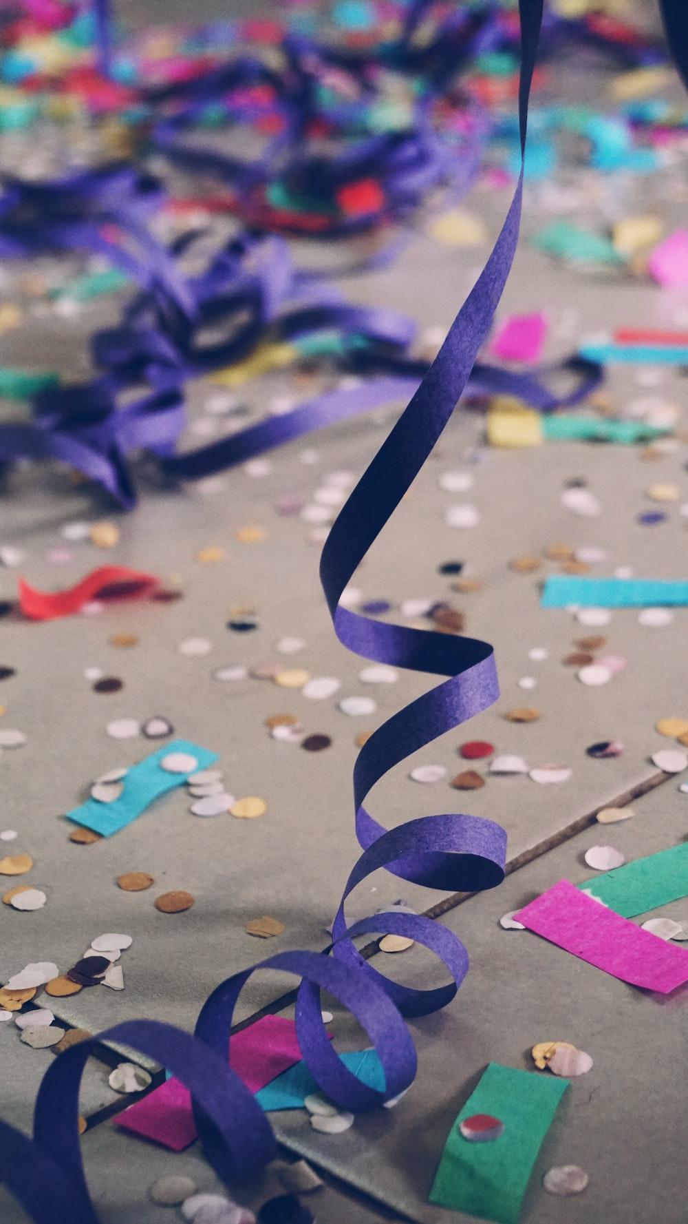 photo of assorted-colored confetti