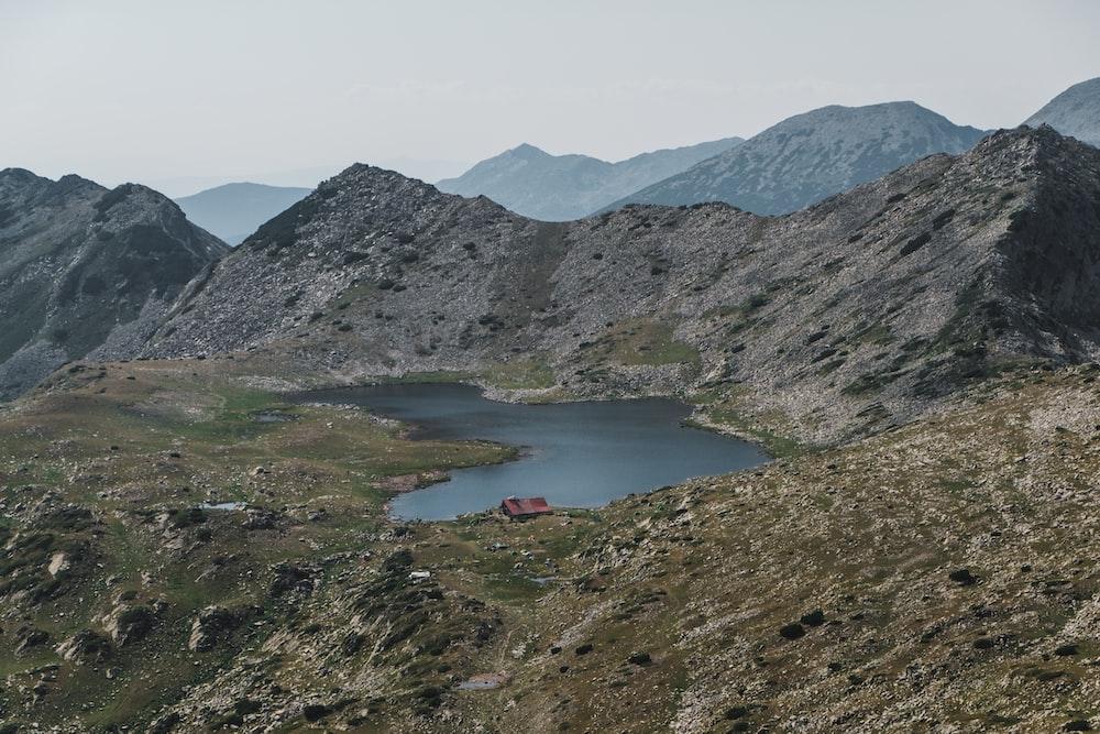 gray mountain and lake