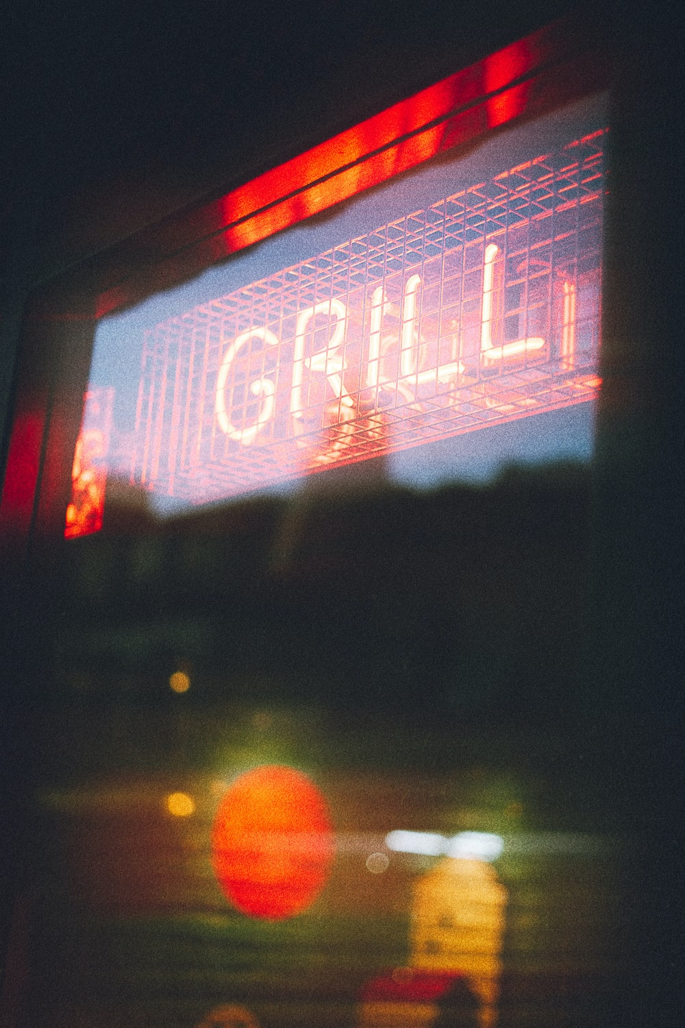 red Grill LED signage