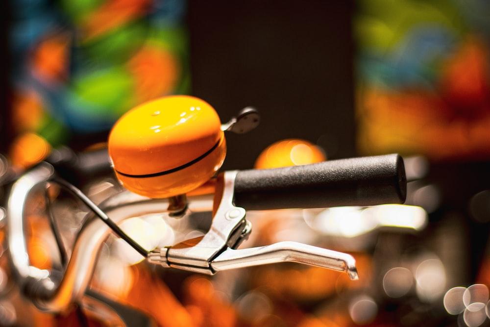 orange bicycle bell