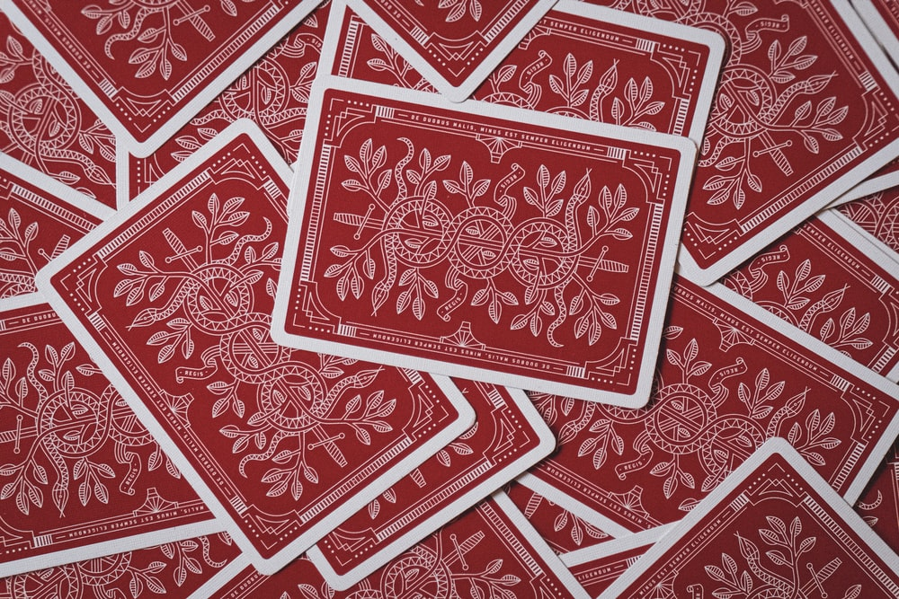red playing cards