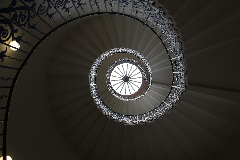 spiral staircase during daytime