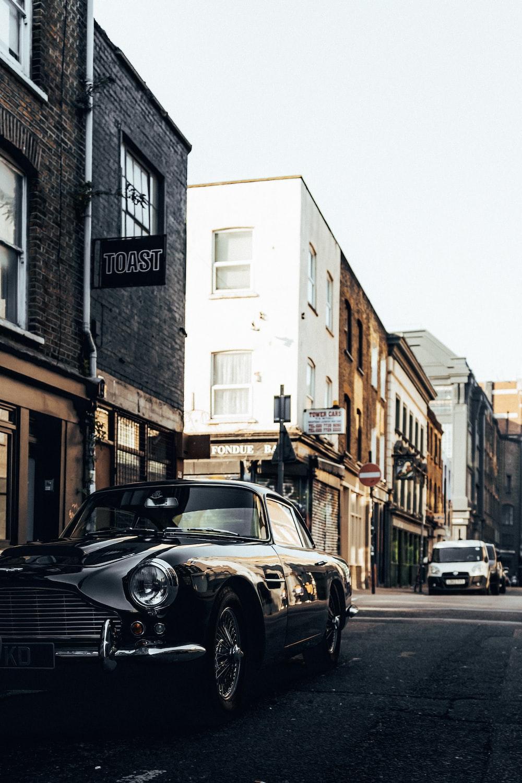 selective focus photo of black car