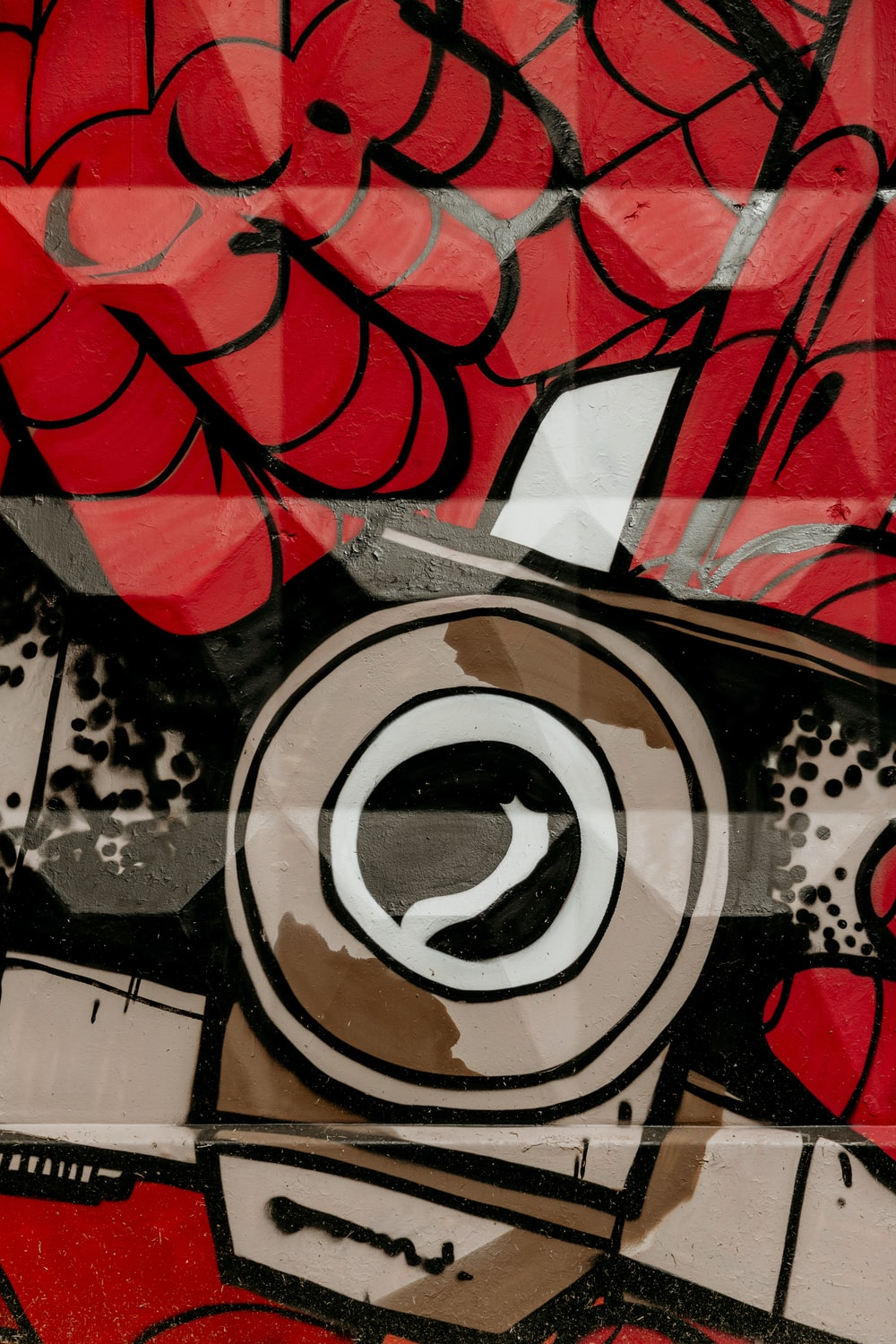 Red Brown And Black Abstract Wallpaper Photo Free Art Image On