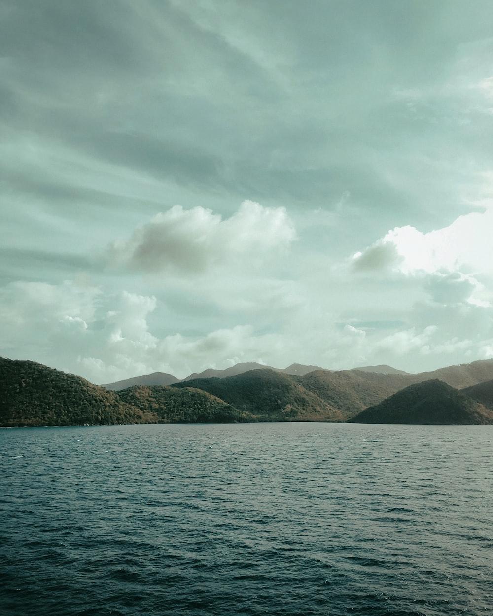 hills near lake
