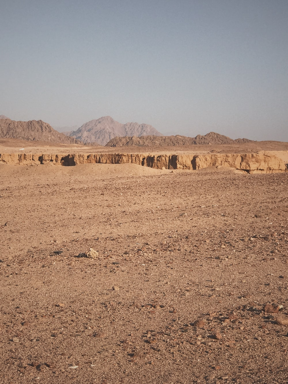 landscape photography of a brown desert