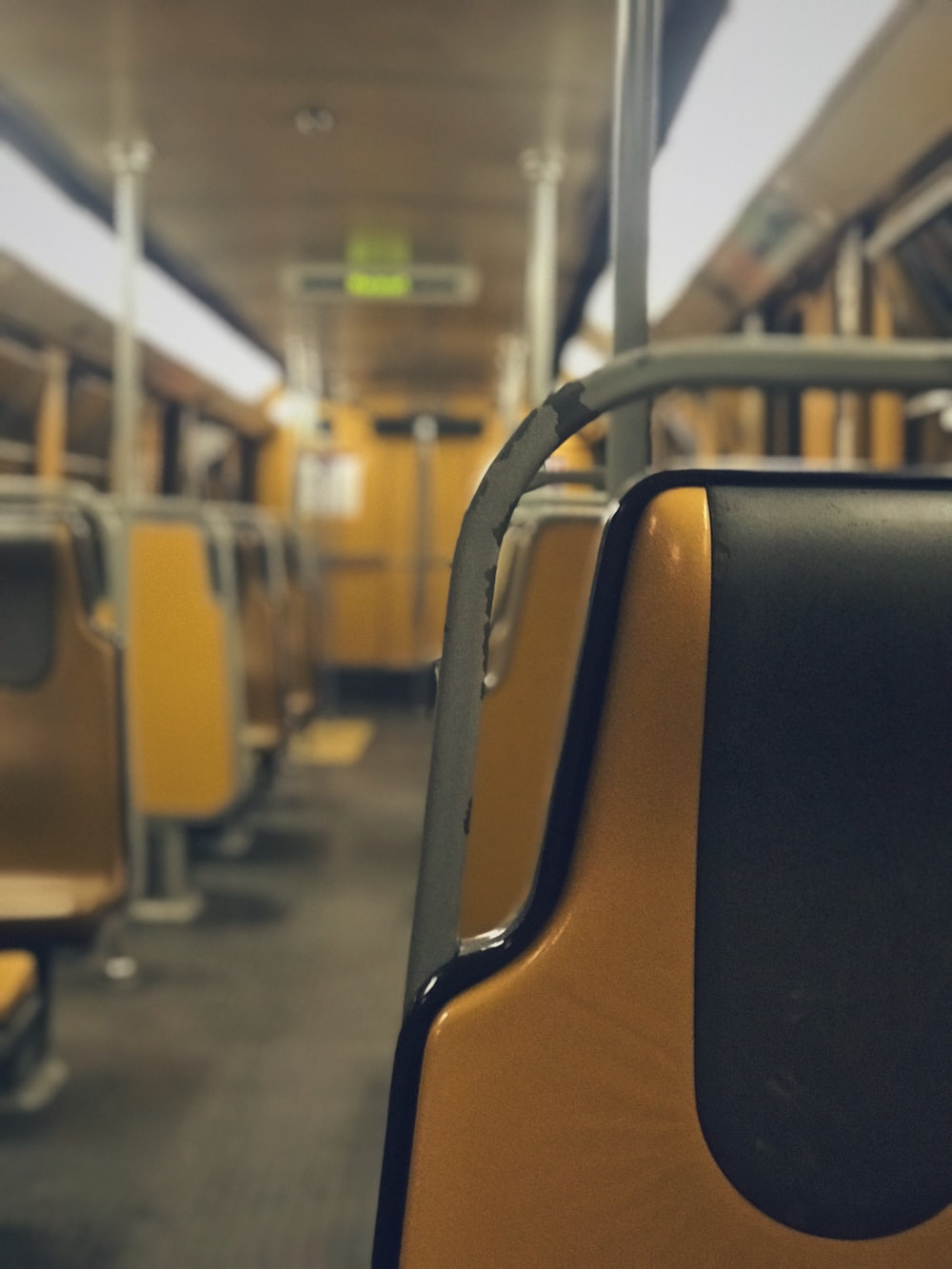 empty public passenger vehicle