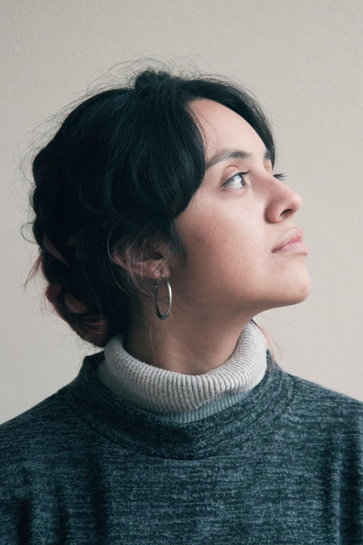 woman near white wall