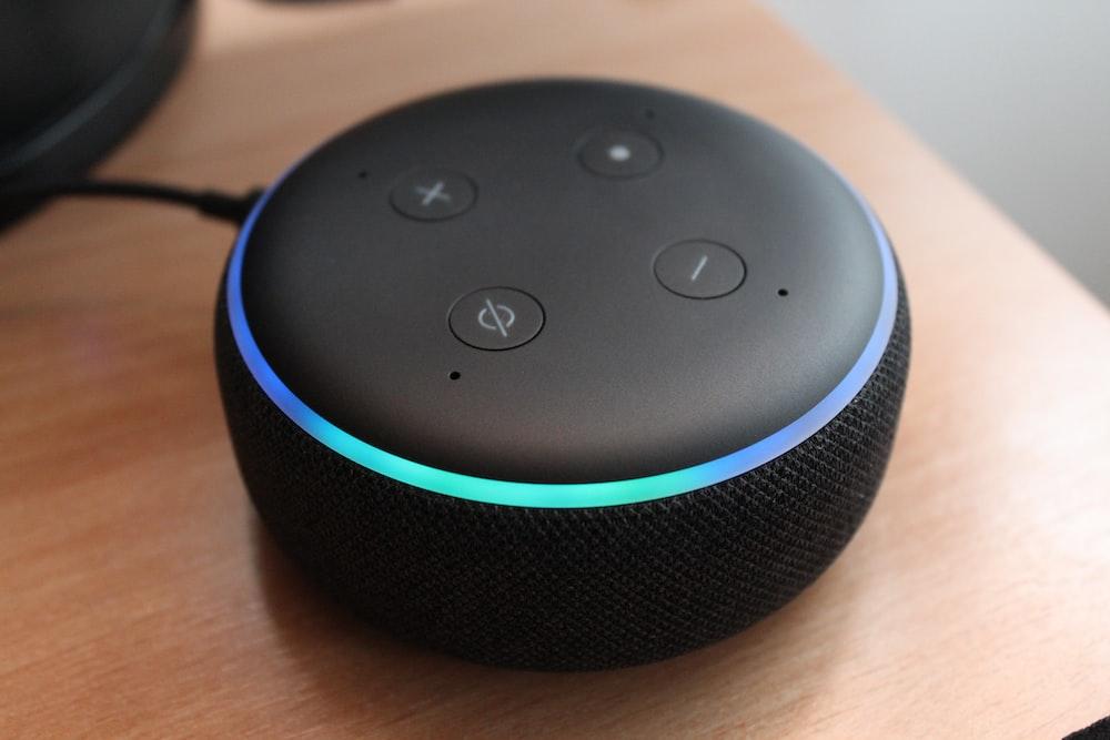 3rd gen. black Amazon echo dot speaker