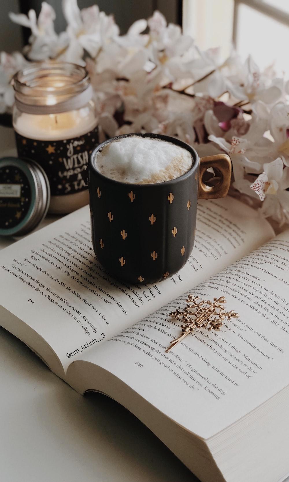 mug on book