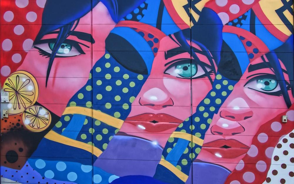 multicolored women graphic art