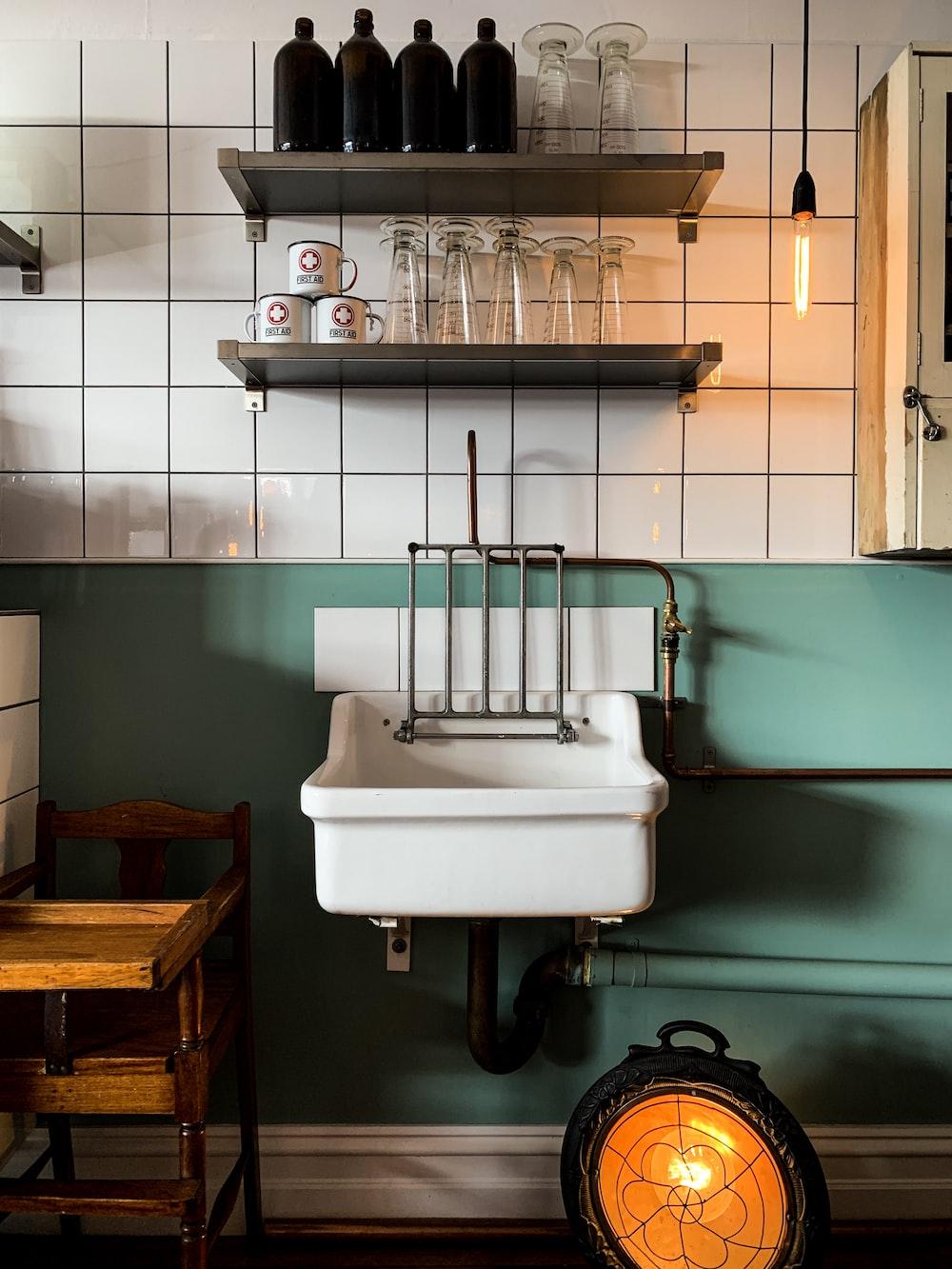 sink near wall