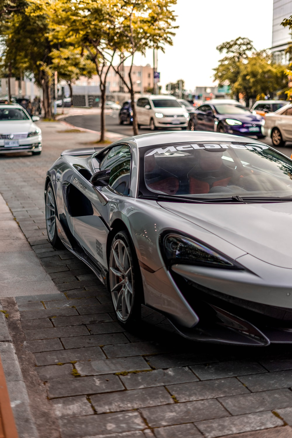 grey sports coupe