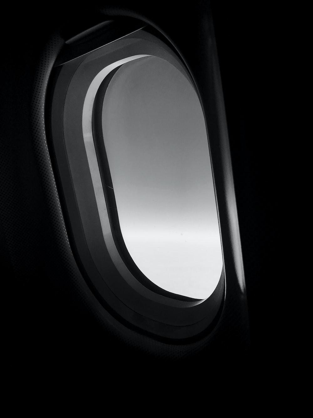 oblong gray window
