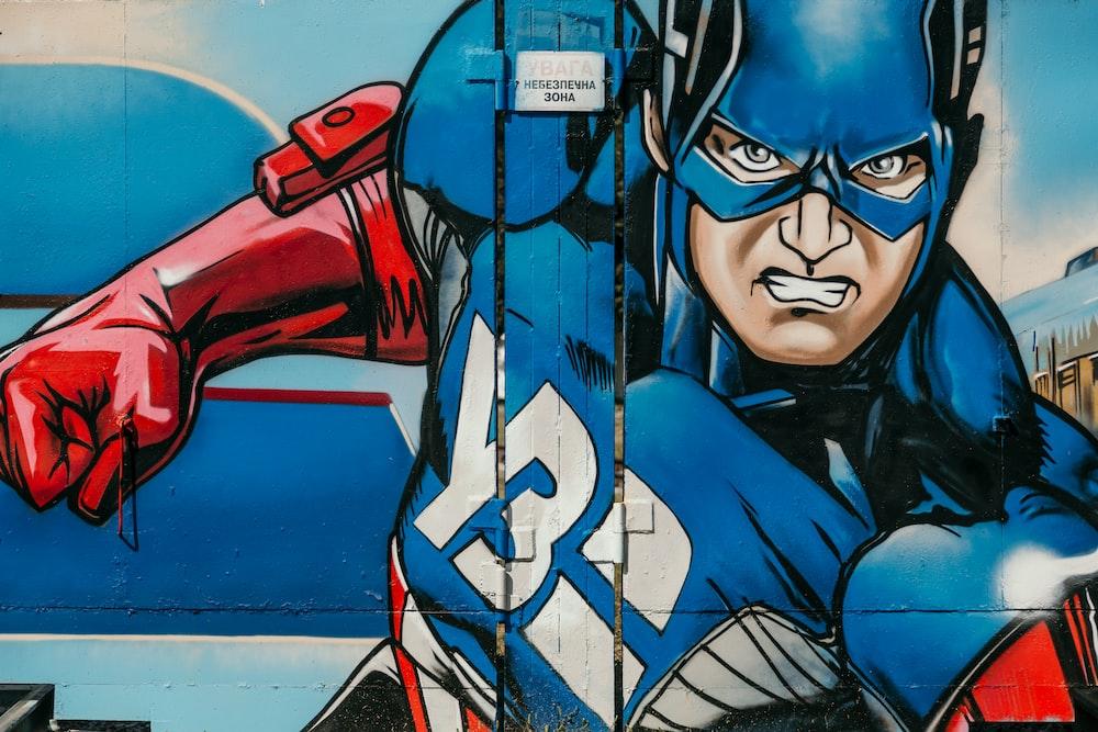Captain America graffiti