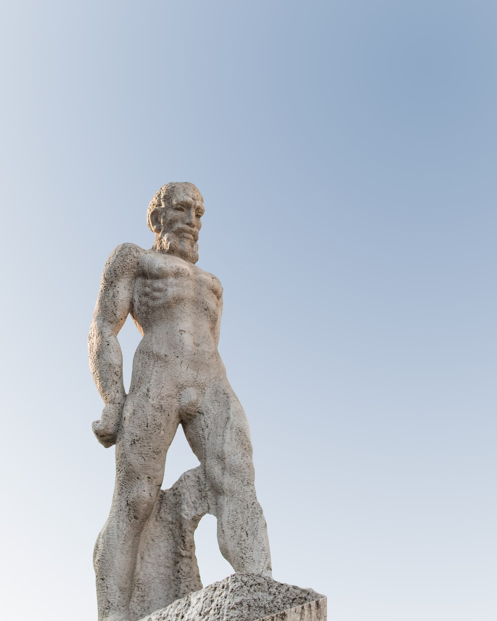 male statue during daytime