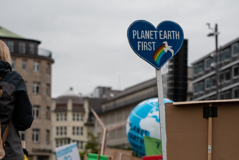 Planet Earth First signage