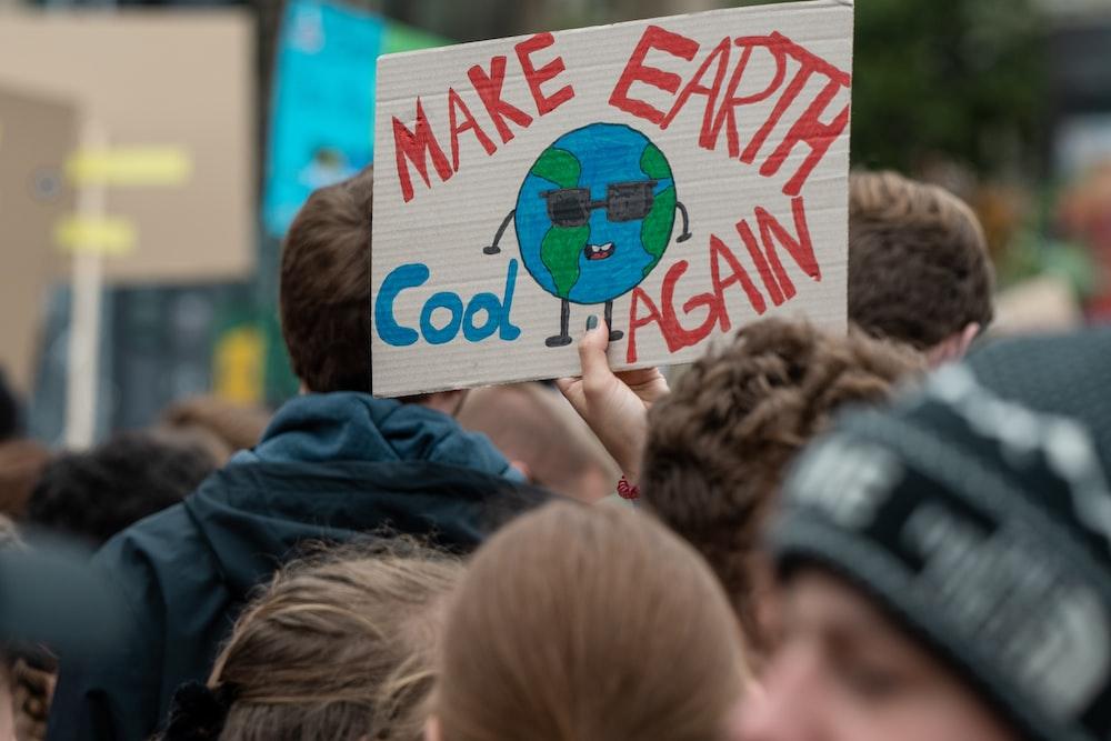 Make Earth cool again poster