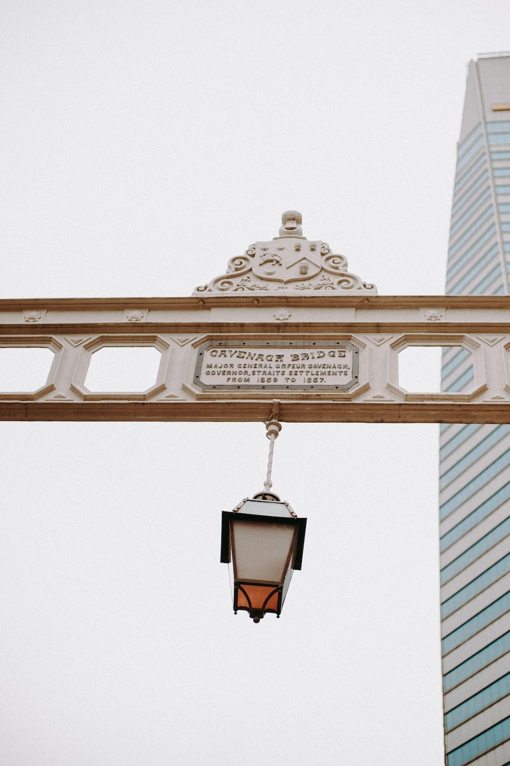 pendant lamp near building