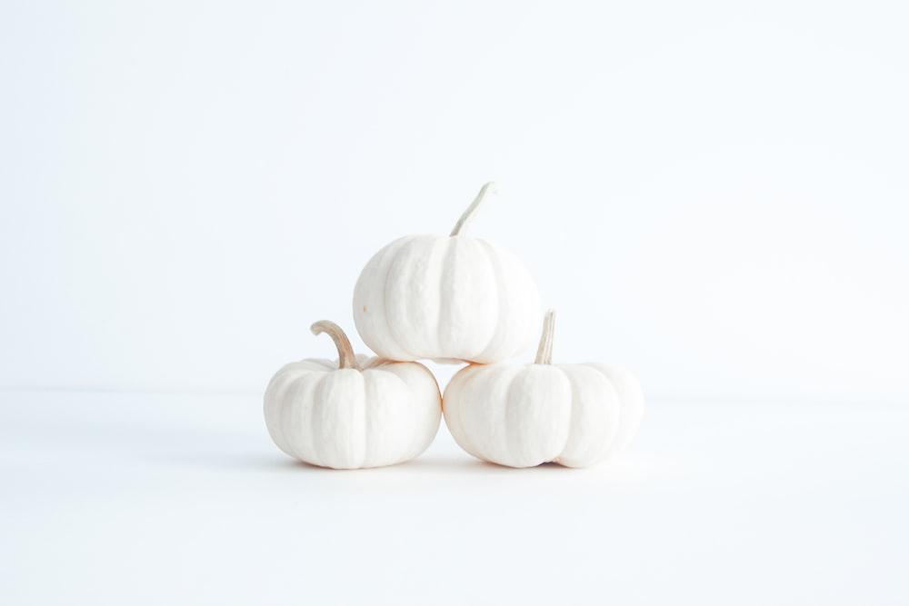 three white squash