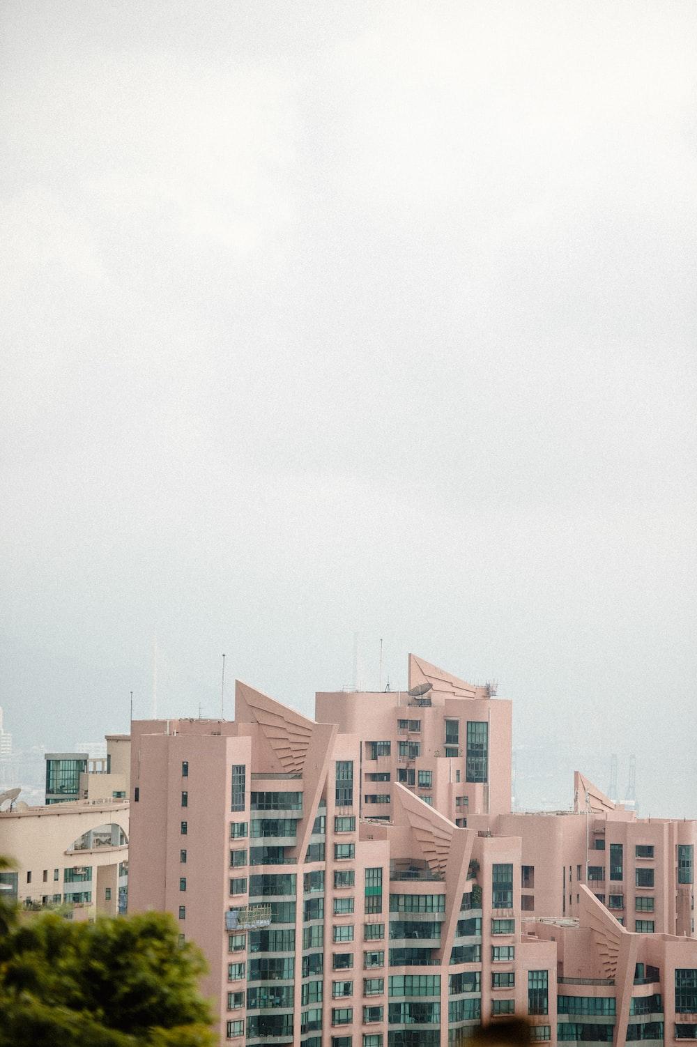 white building under white sky