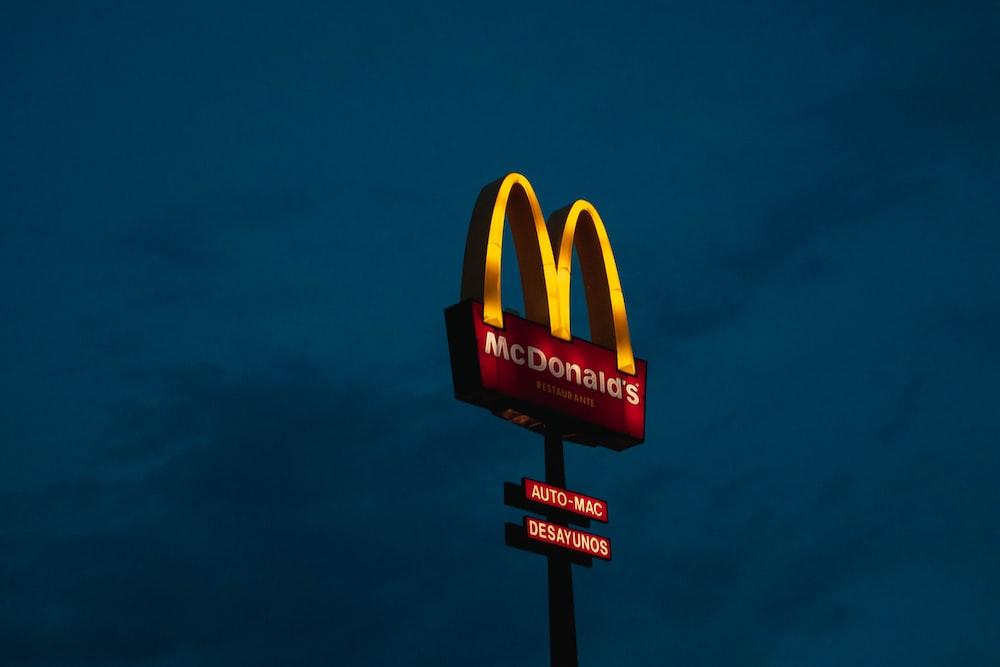 McDonald LED signage