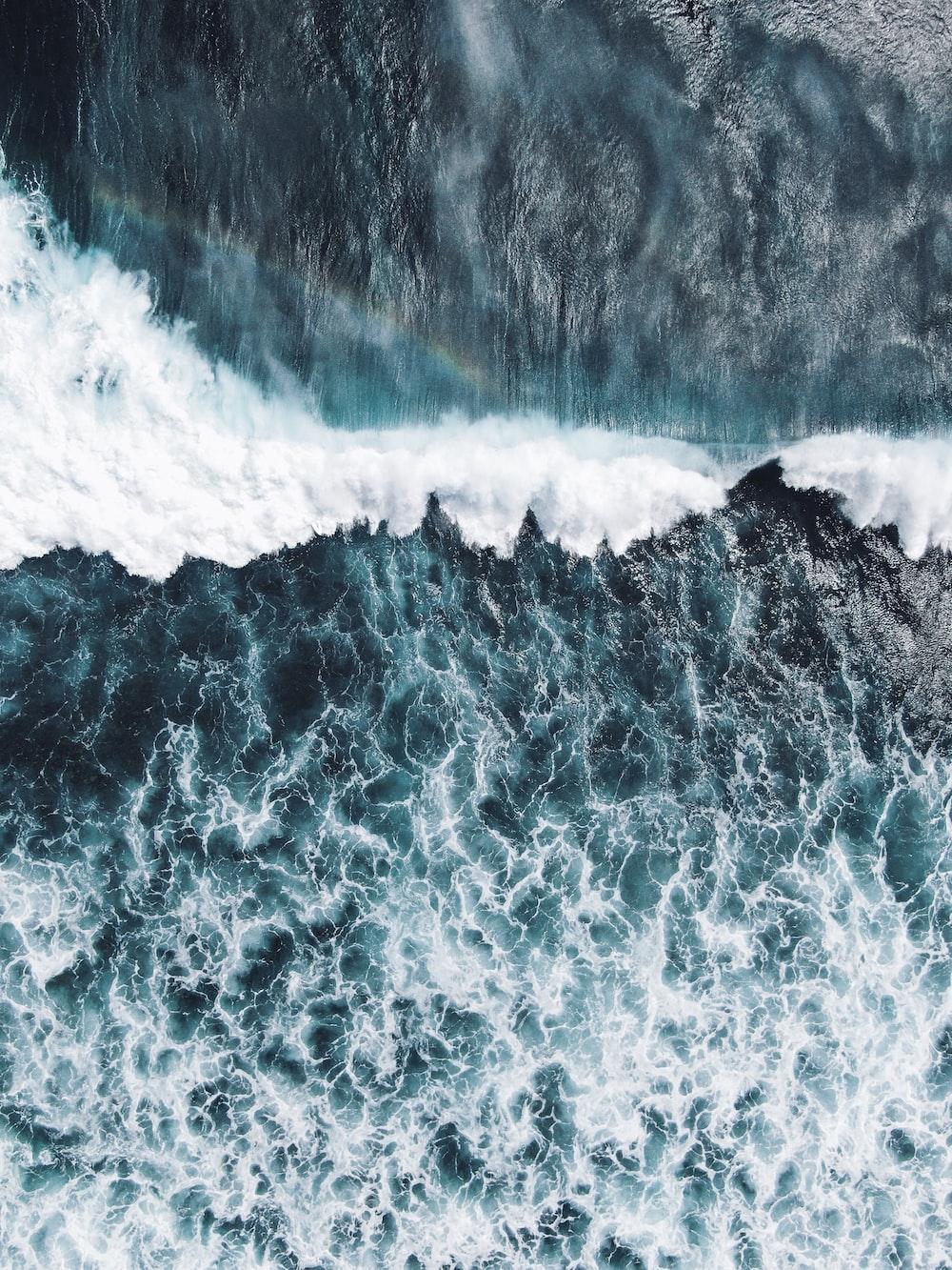 sea waves during daytime photo