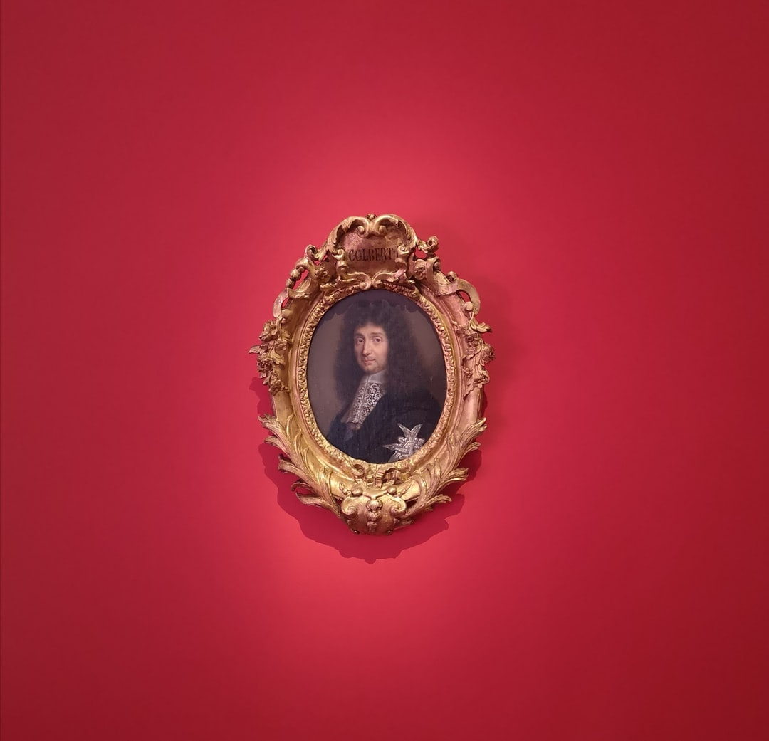 Small portrait of Colbert at Manufacture des Gobelins