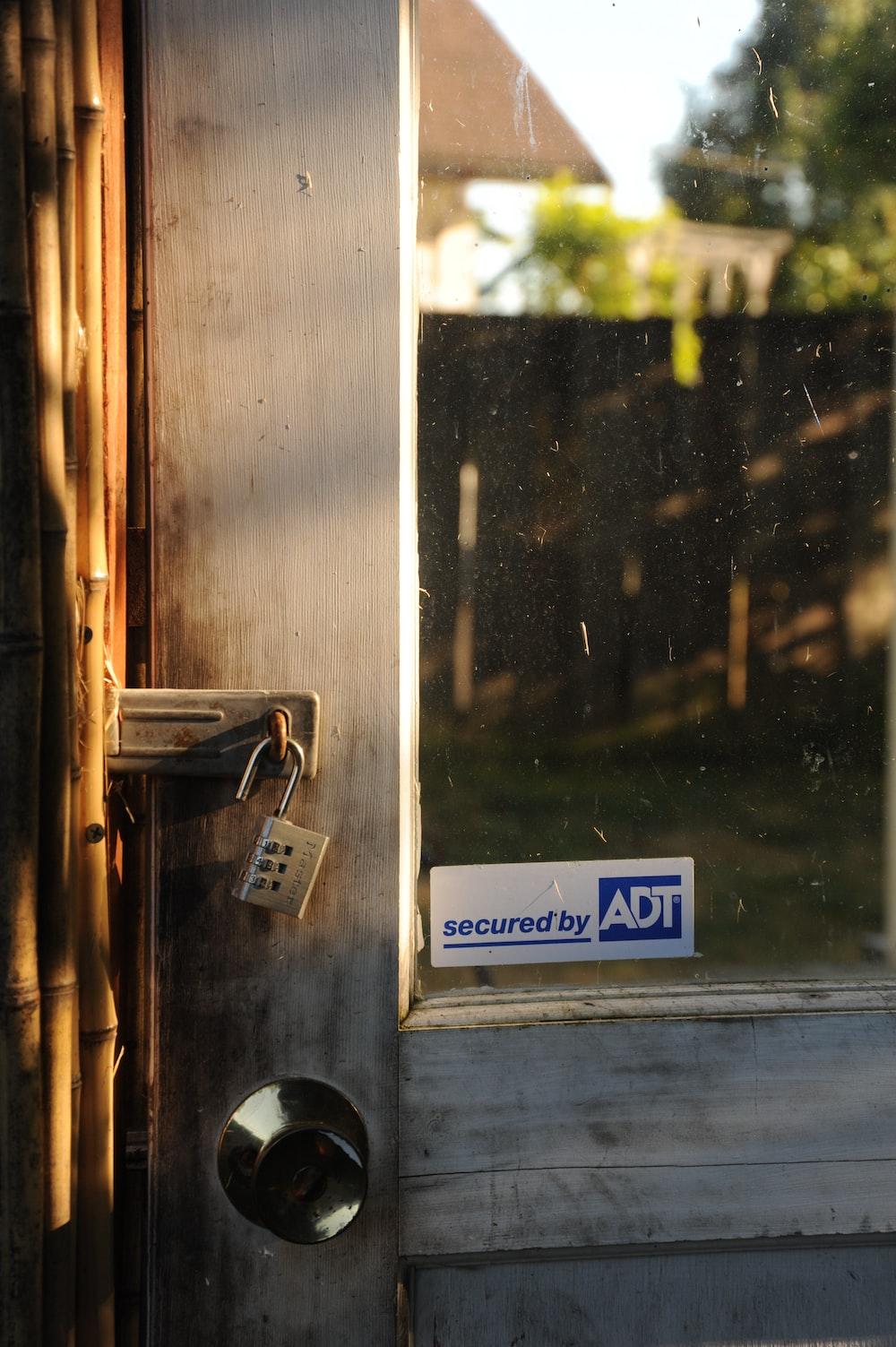 padlock in door lock