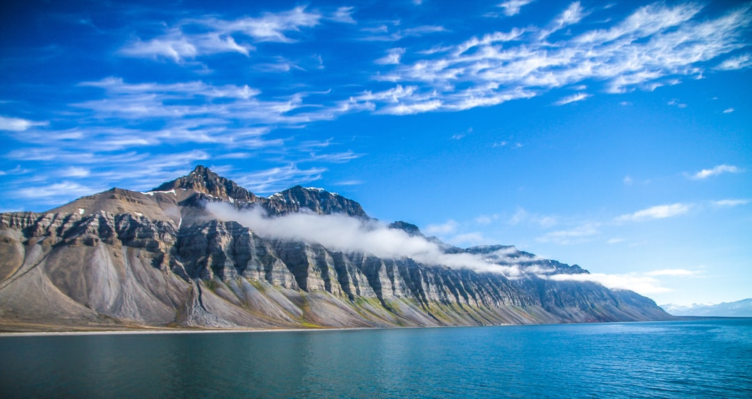 Mountain in the north pole / Svalbard