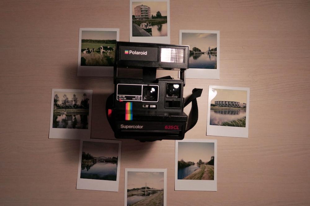 black Polaroid land camera