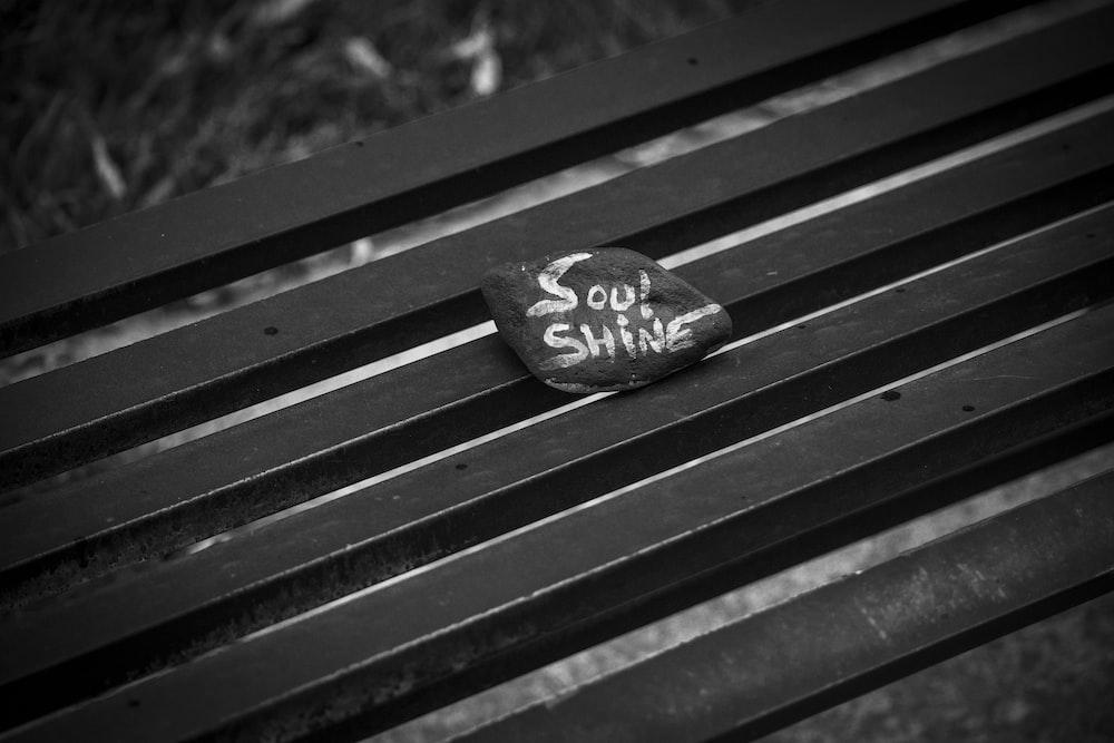 gray stone on bench