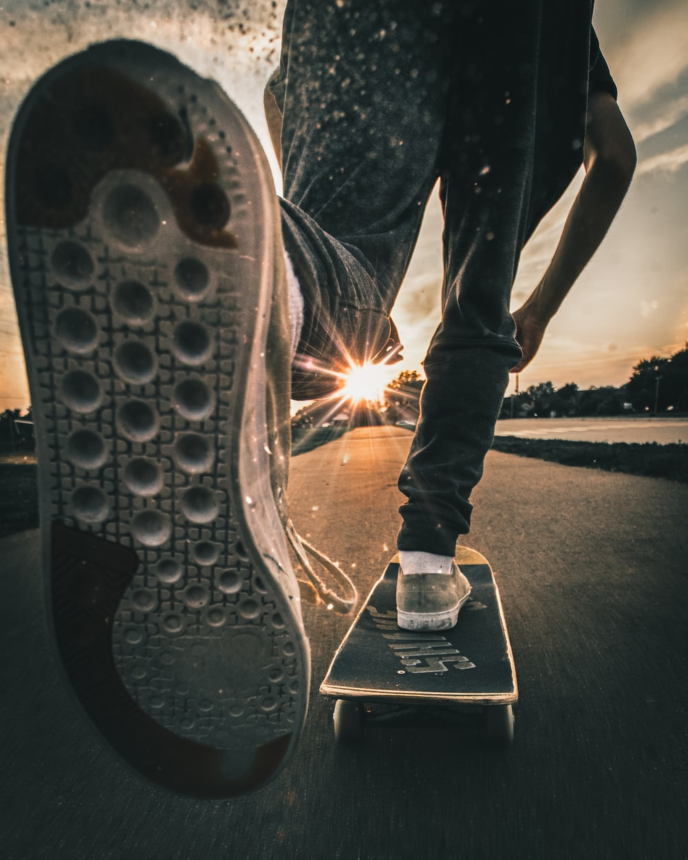 person on skateboard