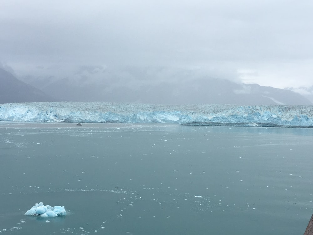 ice berg beside island