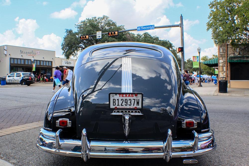 black classic vehicle
