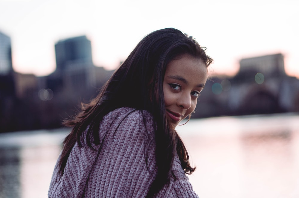 selective-focus photograph of woman