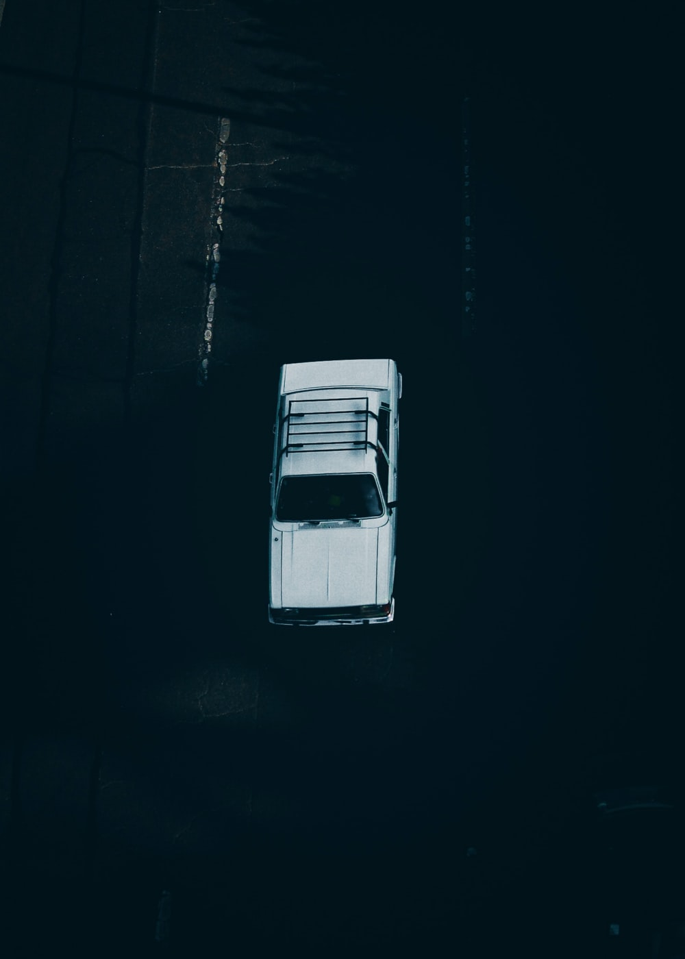 white car on road