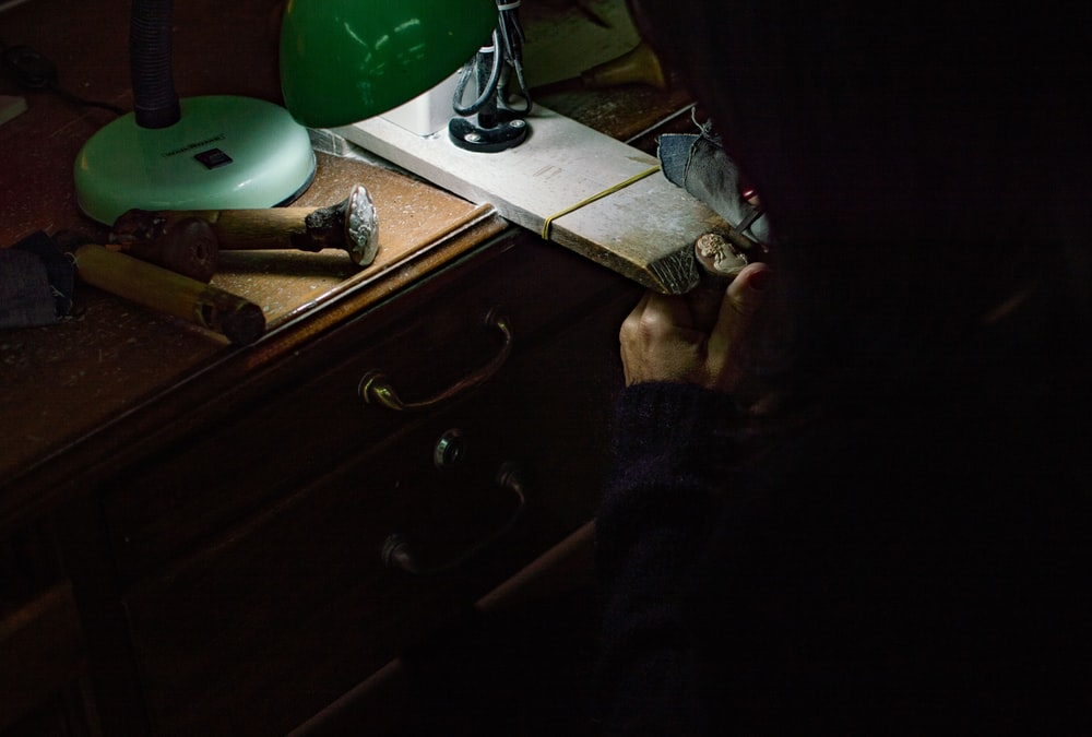 photo of woman doing ring craft