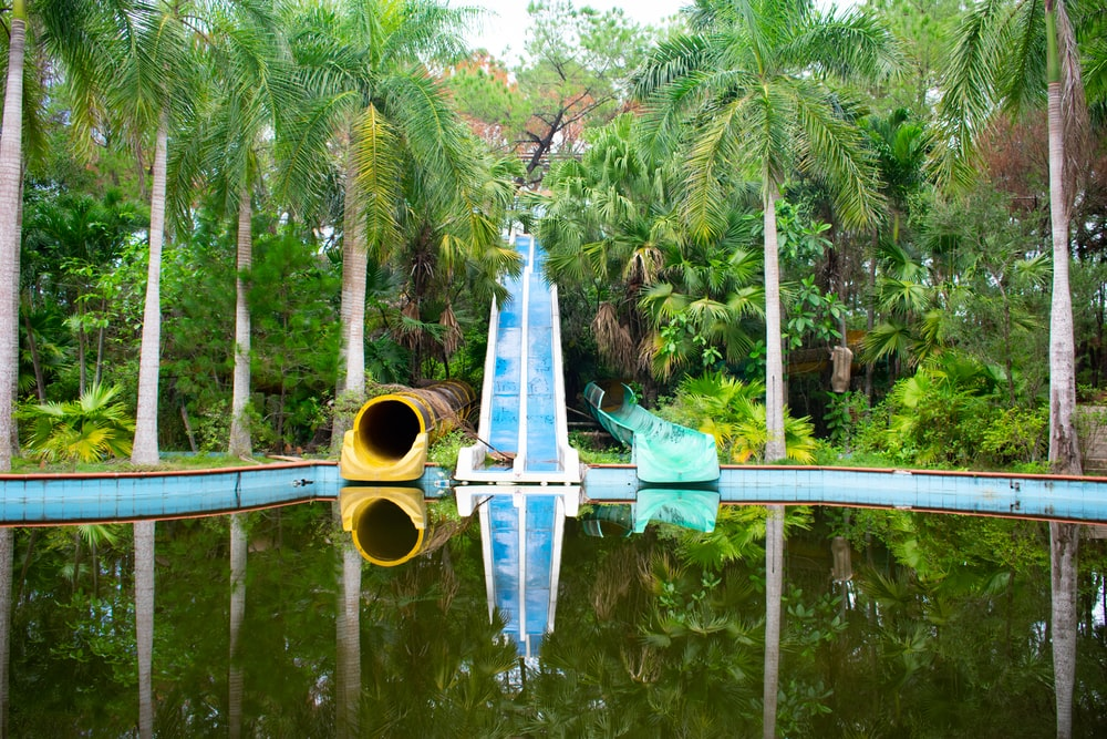 slide on pool