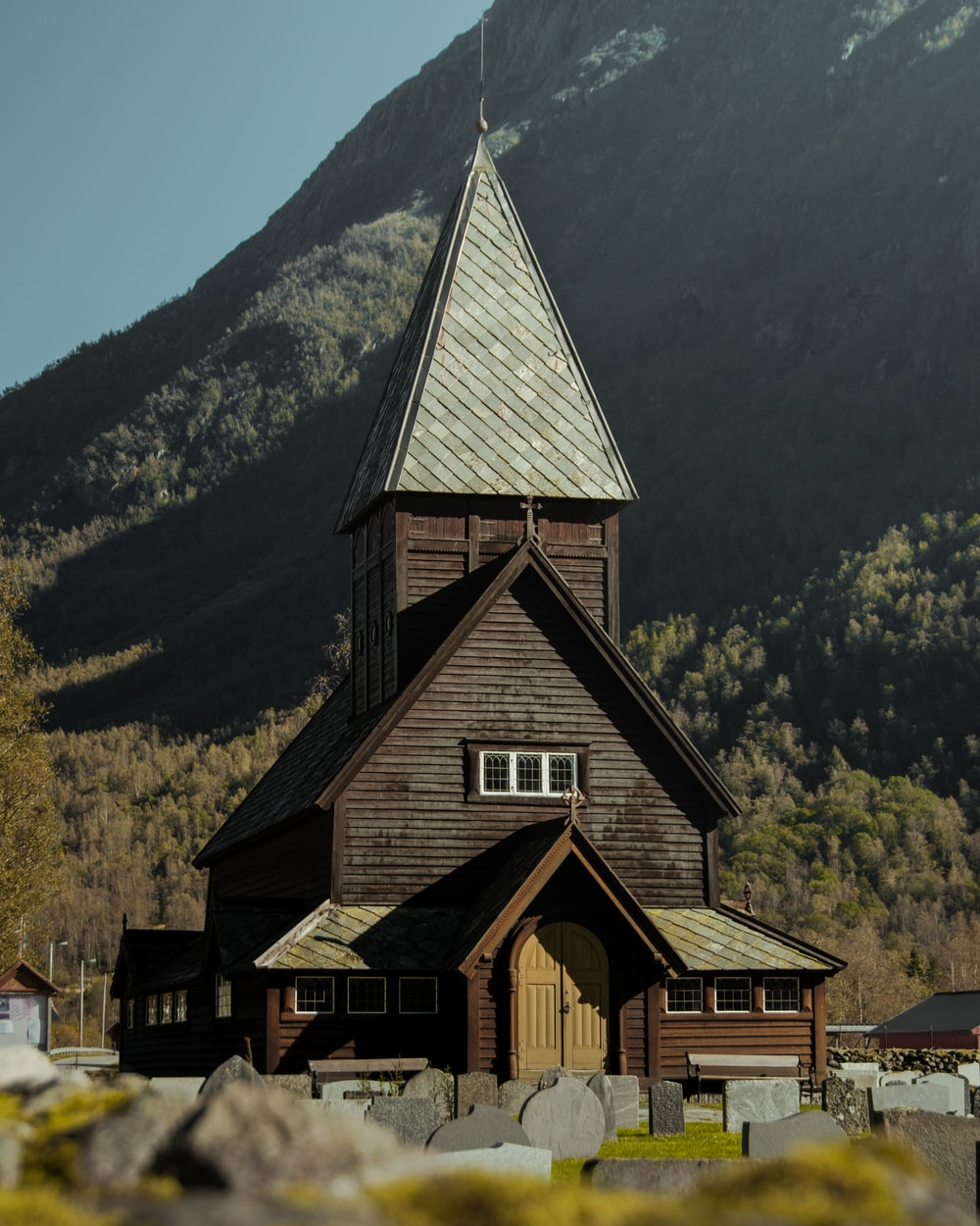 brown wooden church