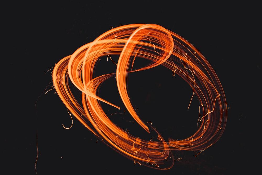 orange line strokes illustration