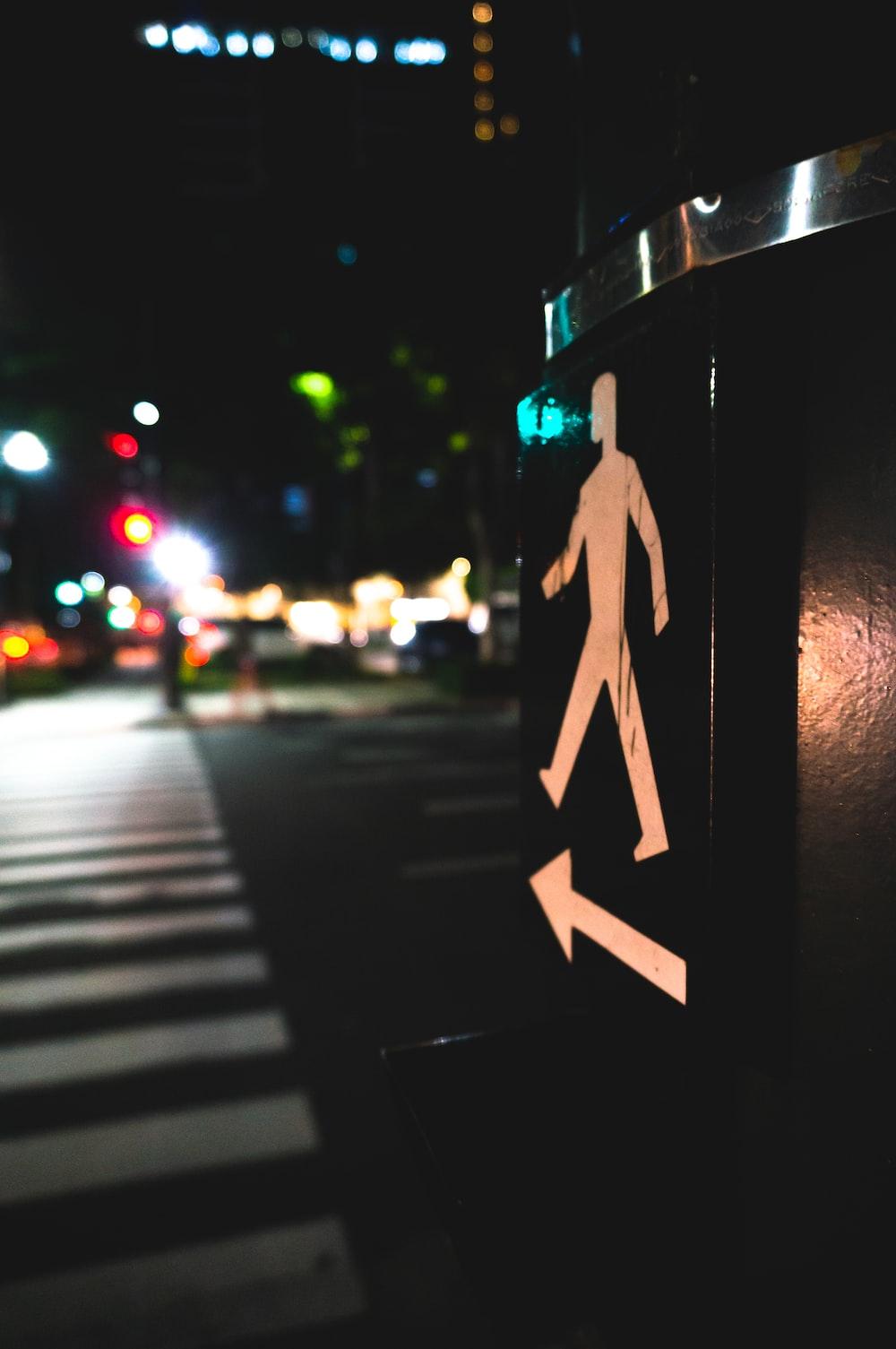 pedestrian signage