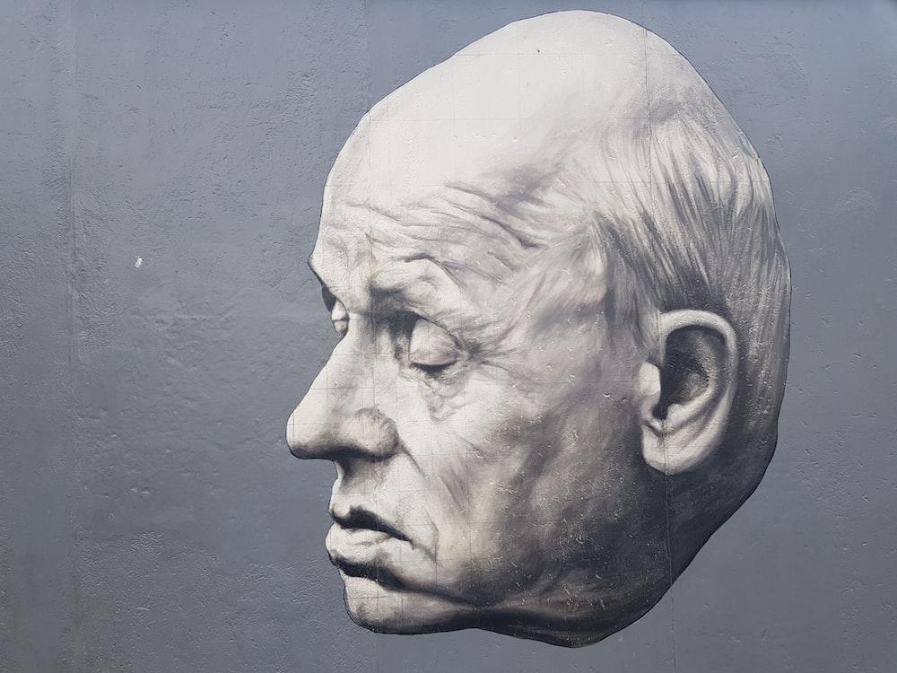 man's head illustration