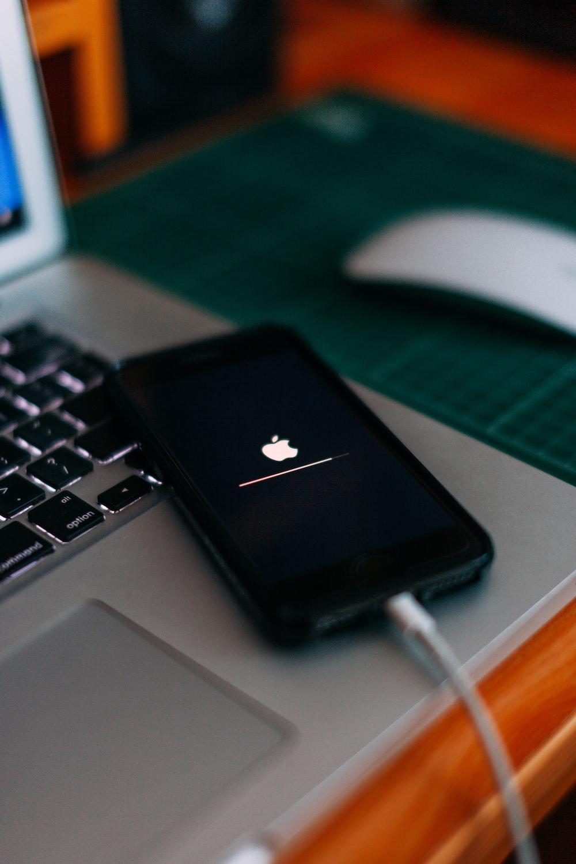 iPhone charging on MacBook