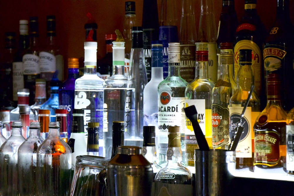 variety of liquors