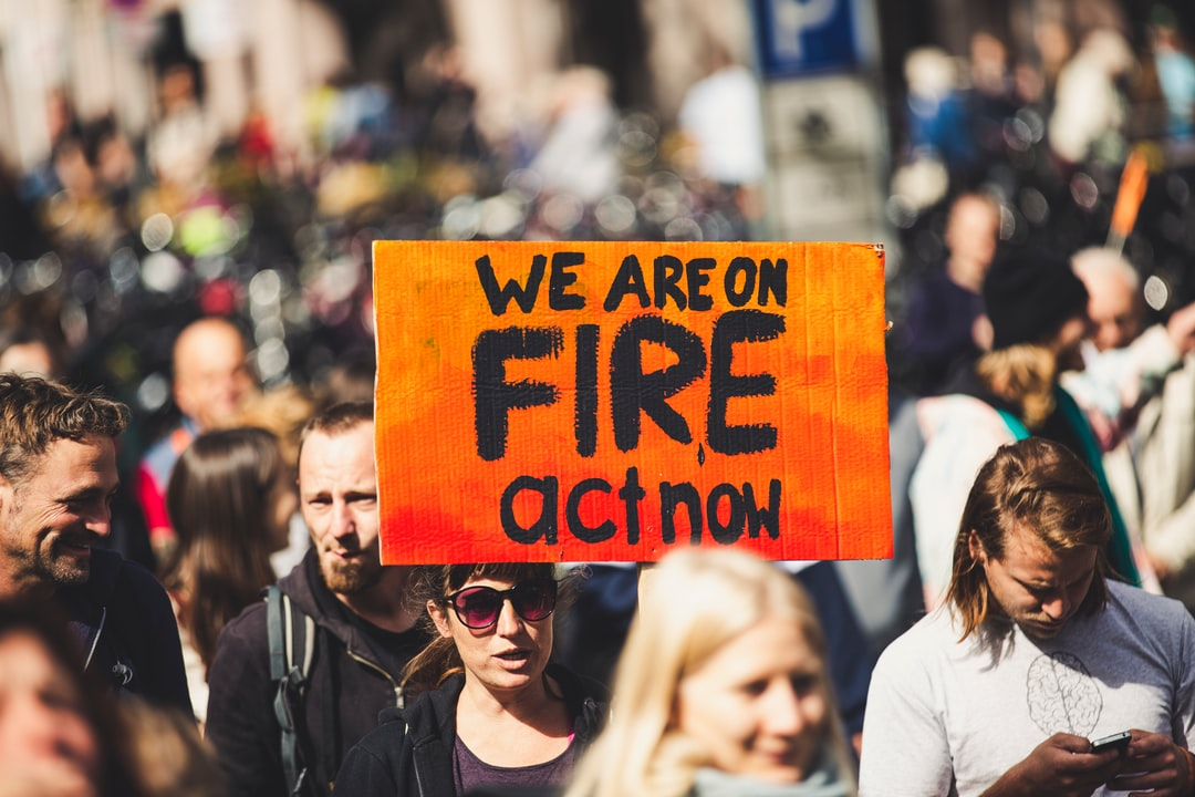 WE ARE ON FIRE - ACT NOW! Global climate change strike - No Planet B - 09-20-2019