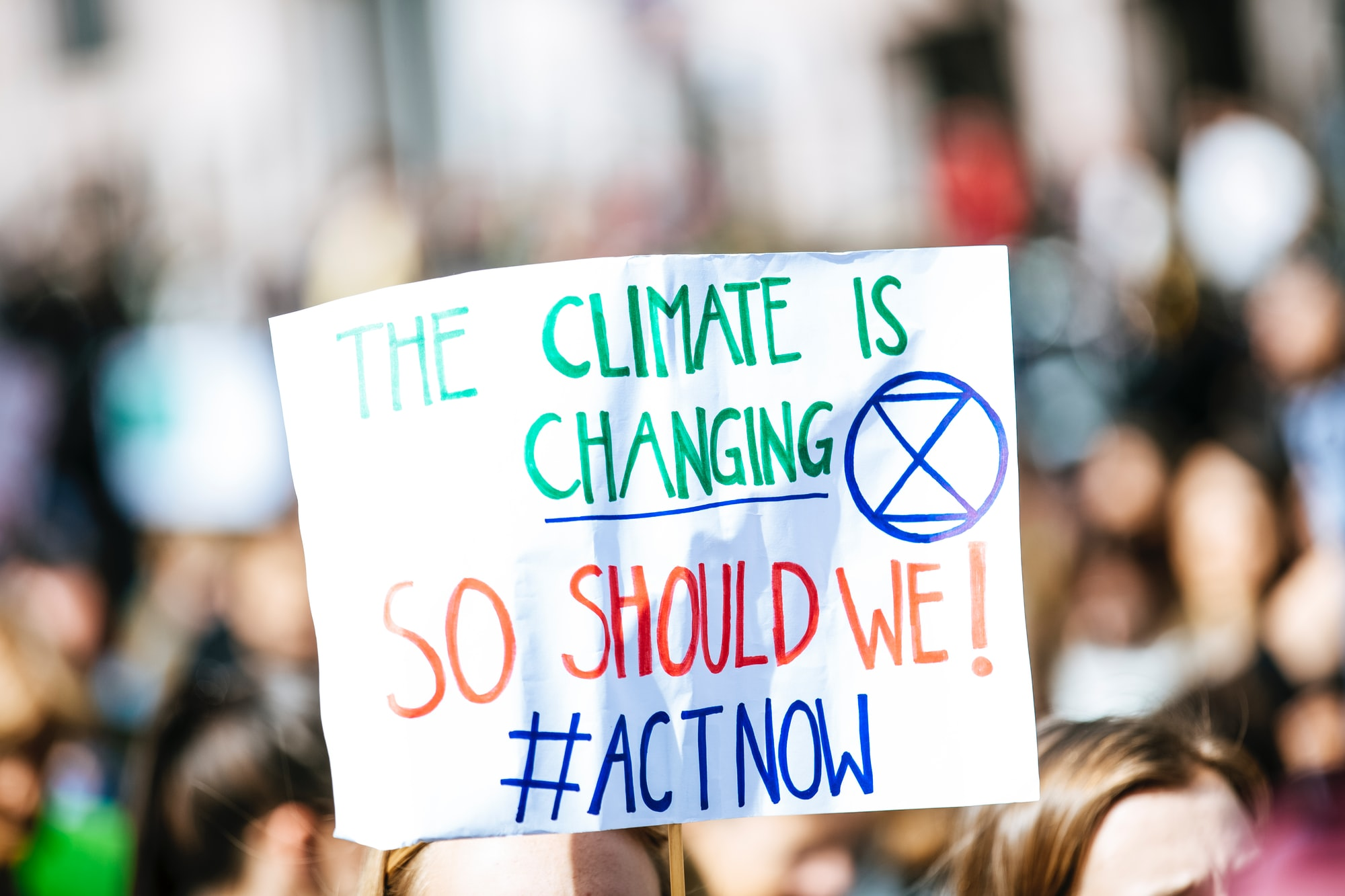 THE CLIMATE IS CHANGING - SO SHOULD WE! #ACTNOW. Global climate change strike - No Planet B - 09-20-2019